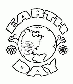 earth day logo coloring page for kids coloring pages printables free wuppsycom