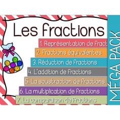 Les fractions - Cartes à tâches - Lot complet ! Daily 5 Math, Math 5, Math Fractions, Math Class, Fun Math, Teaching Math, Program Evaluation, Montessori Math, Cycle 3