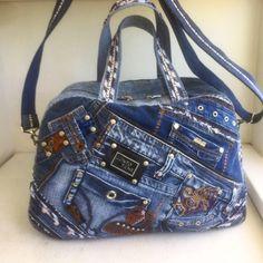 Denim Handbags, Denim Tote Bags, Denim Purse, Jean Purses, Fabric Shoes, Handmade Handbags, Recycled Denim, Patchwork Bags, Balenciaga City Bag