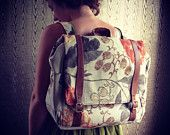 Convertible backpack messenger travel bag with adjustable leather straps!