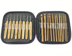 22 St crochet hook knitting needles set crochet needle needle set with case ED