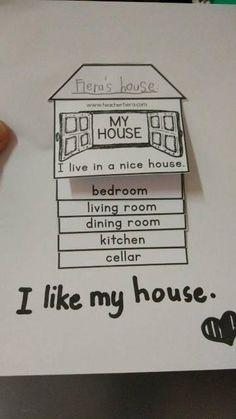 I love my house, English Primary School, Teach English To Kids, English Worksheets For Kids, English Games, English Resources, Kids English, English Activities, School Worksheets, English Classroom