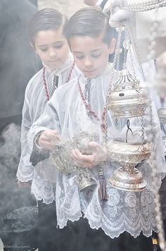 altar boys, incense....Latin Mass smells and bells!