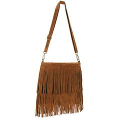 Yoins Brown Fringe Tassel Square Satchel (7.140 HUF) ❤ liked on Polyvore featuring bags, handbags, yoins, brown, hand bags, brown fringe purse, man bag, brown purse and fringe leather handbags