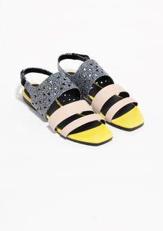 & Other Stories | Printed Leather Sandals
