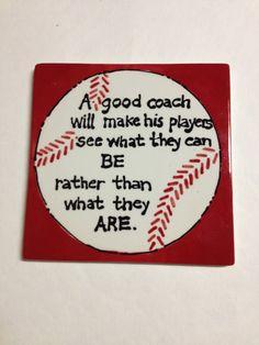 Coach Gift A Sports Tile Baseball/ Soccer/ by TheTracyMurphy, $11.00