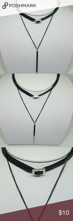 Black Fashion Choker with Silver Pendant 💖Brand new item! 💖Used to have a fashion store at the mall, 💋💄👓💍⌚but recently decided to go back to college 🏩to get my Nursing degree 🎓so now I just sell from home. 🤗 Jewelry Necklaces