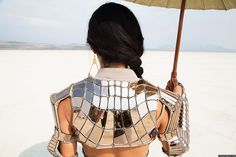 Erevos Aether bespoke fashion design for Sscarlett Etienne Burning man festival couture erevosaether.com