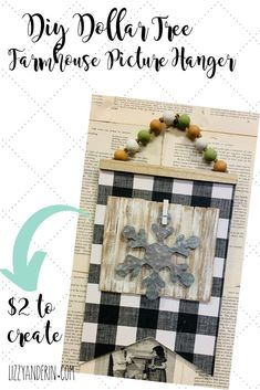 Transform an ordinary Dollar Tree sign into a beautiful Farmhouse picture hanger… - Herzlich willkommen Dollar Tree Finds, Dollar Tree Decor, Dollar Tree Crafts, Dollar Tree Store, Dollar Stores, Budget Crafts, Diy Crafts, Diy Projects To Sell, Craft Projects