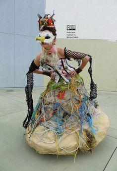 Castaway Dress made by Marina DeBris 2013 Dress made of trash on the beach