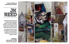 Next Exhibition at Crossroads Gallery,  Atrist J K Reed , Grphics  Vicki Parker