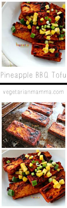 This simple recipe for Pineapple BBQ Tofu does not require a grill, but the use of your broiler. It is a great dish that can be made year round. Grilling Recipes, Veggie Recipes, Real Food Recipes, Vegetarian Recipes, Cooking Recipes, Healthy Recipes, Grilled Tofu Recipes, Healthy Eats, Delicious Recipes