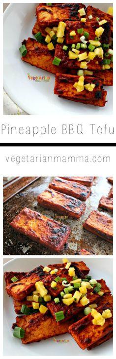 Pineapple BBQ Tofu @vegetarianmamma.com