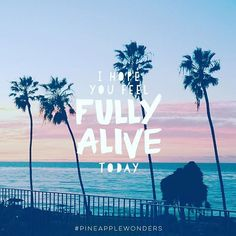 I hope you feel fully alive today. #life #beautifulwords #quotes #inspiration #bealive #lajolla #sandiego #california #lovinglife #pineapplewonders