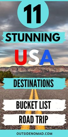 11 Stunning US Road Trip Destinations Not To Miss Bucket list road trips USA offers you stunning destinations that you don't want to miss. Us Travel Destinations, Bucket List Destinations, Places To Travel, Amazing Destinations, Us Road Trip, Road Trip Hacks, Travel Couple, Family Travel, State Parks