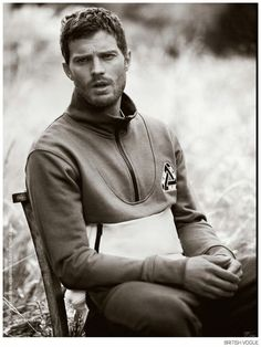 Jamie Dornan for British Vogue-Photographed by Boo George, 'Fifty Shades of Grey' actor Jamie Dornan poses in a field for the perfect fall shoot for Britis