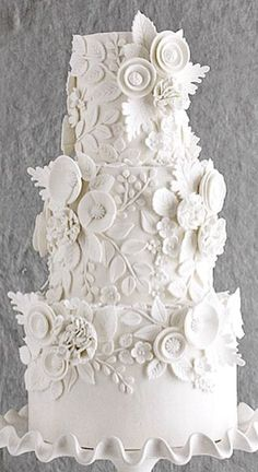 Wedding Cake Inspiration - Coco Paloma Desserts - My WordPress Website White Wedding Cakes, Elegant Wedding Cakes, Beautiful Wedding Cakes, Gorgeous Cakes, Wedding Cake Designs, Wedding Cake Toppers, Rhinestone Wedding Cakes, Amazing Cakes, White Cakes
