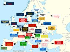 Every European country has its own Oxford:DailyInfographics.eupresented a map, or rather a guideto the top #Universities in #Europe. Many of these names definitely ring a bell for your, because they are well-known abroad as well.