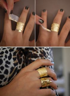 DIY: gold leaf jewelry