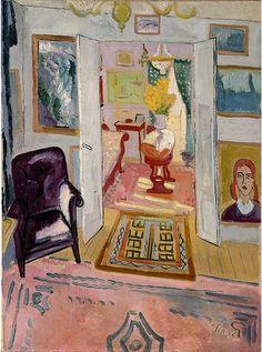 art interior, painting by Grunewald, Isaac Why do I love this era so! Painting Inspiration, Art Inspo, Pinturas Art Deco, Udk Berlin, Arte Popular, Henri Matisse, Art Boards, Painting & Drawing, Modern Art