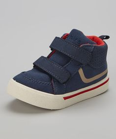 Another great find on #zulily! Navy & Red Switch Sneaker by Carter's #zulilyfinds
