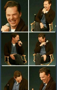 Benedict Cumberbatch with the giggles is a sight to see. Makes you want to always make sure the man is happy.