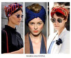como usar lenços de cabelo - acessórios verão 2014