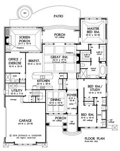 Plan of the Week over 2500 sq ft - The Eliana 1362!  2742 sq ft, 3 beds, 3 baths. #WeDesignDreams