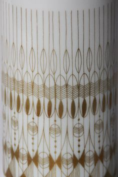 Mid-Century Golden Decor Vase by Hans Theo Baumann by 1001vintage