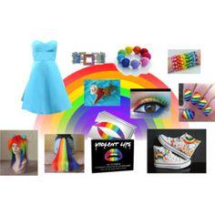 Rainbow Dash cosplay.
