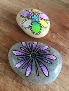 Easy Paint Rock For Try at Home (Stone Art & Rock Painting Pebble Painting, Pebble Art, Stone Painting, Painted Rocks Craft, Hand Painted Rocks, Painted Stones, Rock Painting Ideas Easy, Rock Painting Designs, Stone Crafts