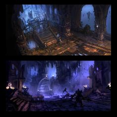 Concept art of Stairway from Darksiders 2