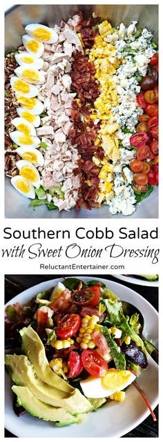 Southern Cobb Salad with Sweet Onion Dressing