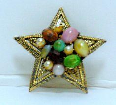 Vintage Star Brooch by QVintage on Etsy, $10.00