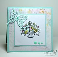Stamps: Inkadinkado/no name-I think it is just called Easter Basket (wood stamp)