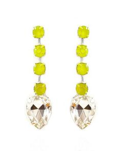 Neon Yellow Earrings.