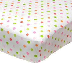 Baby Boom - Mix 'N Match Dot Print Fitted Crib Sheet, Pink