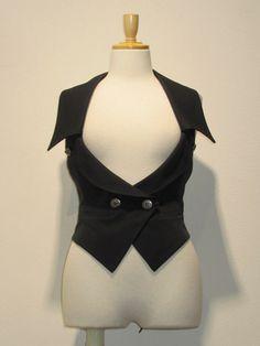 Backless collared vest. 18,690 vest