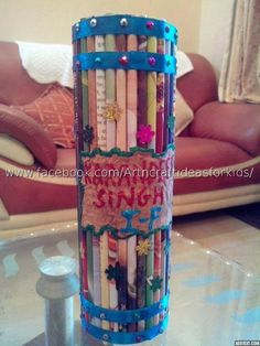 Pencil Holder To Make At Home Using Repurposed Magazines
