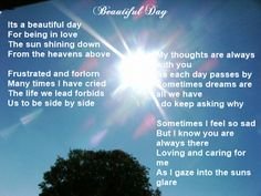 Christin's Poems About Love And Life: Beautiful Day