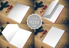 Greeting Card Mockup  Instant Download  by CursiveQDesigns on Etsy