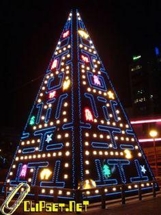 Pac-man tree wins Christmas