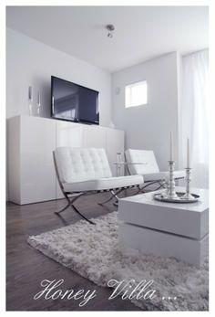 Living Room, white http://honeyvilla.com/
