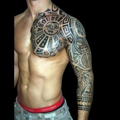tribal shoulder tatto | Tribal shoulder and arm tattoos meanings for men : Image Gallery 1725 ...