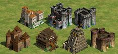 From Starcraft to Age of Empires: When Architecture Is The Game,Castillos de Age of Empires 2 © Ensemble Studios - 1999. Image
