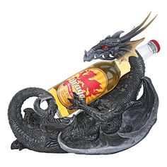 Design Toscano Decorative The Thirst Quencher Gothic Dragon Beverage Holder Drink Holder, Bottle Holders, Dragons, Medieval Party, Dragon Party, Animal Statues, Fantasy Dragon, Gothic House, Hand Cast