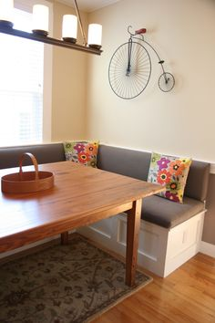 Custom Banquette Seating for Interior Design Rennovation and Addition in Newburyport, MA