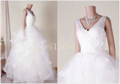 Custom Sweetheart  Lace Tulle  Wedding dress Y094 by YoursTailor