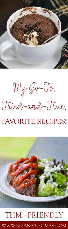 "After all the hype about Trim Healthy Mama ""Sweatpants Meals"", I thought I'd share some of my own with you!  These are my go-to, tried-and-true, favorite recipes that I reach for when I'm in survival mode.  Many of the ideas given in this post aren't even recipes!  Super simple.  You'll find my own ""Sweatpants Oatmeal"" recipe as well.  ;)"