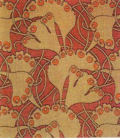 Koloman Moser: designer | ginko leaf | Wiener Werkstätte | Vienna, Austria | 1899